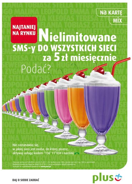 Nielimitowane SMSy do wszystkich sieci za 5 zł miesięcznie w Plusie