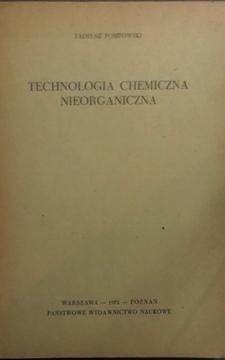 Technologia chemiczna nieorganiczna /7203/