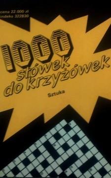 1000 słówek do krzyżówek Sztuka /8294/