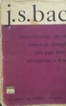 J.S. Bach Inwencje dwugłosowe na fortepian /30494/