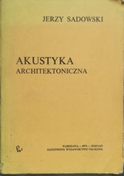 Akustyka architektoniczna /31055/