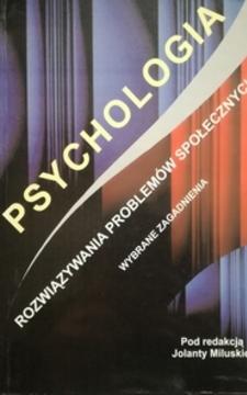 Psychologia Rozwiązywania problemów społecznych /112229/