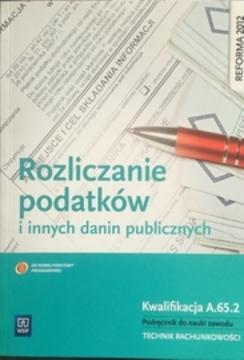 Rozliczanie podatków i innych danin publicznych /31965/