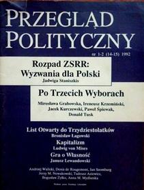 Przegląd polityczny nr 1-2 (14-15)1992.
