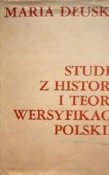 Studia z historii i teorii wersyfikacji polskiej I i II