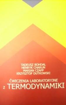 Ćwiczenia laboratoryjne z termodynamiki /20306/