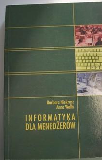 Informatyka dla menedżerów