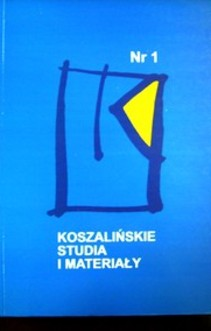 Koszalinskie studia i materiały nr 1