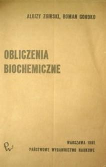 Obliczenia biochemiczne