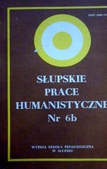 Słupskie prace humanistyczne nr 6b PEDAGOGIKA
