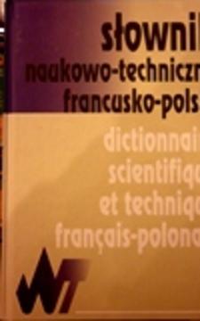 Słownik naukowo-techniczny francusko-polski /32704/