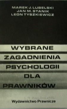 Wybrane zagadnienia psychologii dla prawników