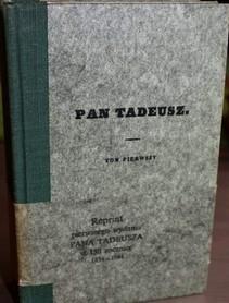 Reprint pierwszego wydania Pana Tadeusza w 150 rocznicę 1834-1984