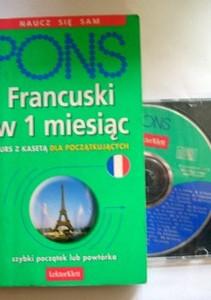 Francuski w 1 miesiąc Naucz się sam Kurs z CD dla poczatkujących