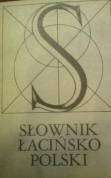 Słownik łacińsko polski /112094/