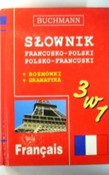 Słownik  3w1 francusko-polski polsko-francuski + rozmówki + gramatyka