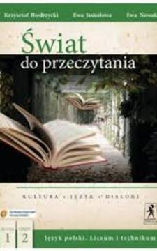 Świat do przeczytania 1 część 2 LO Język polski Podr./113617/