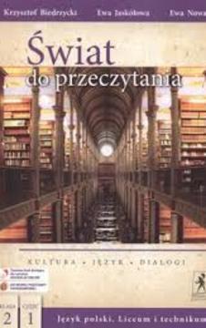 Świat do przeczytania 2 część 1 LO Język polski Podr. /113616/