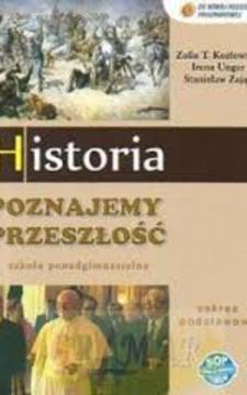Poznajemy przeszłość Historia ZP LO Podręcznik /20196/