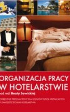 Organizacja pracy w hotelarstwie /5793/