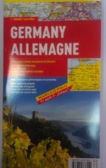 Mapa Niemiec Deutschland
