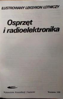 Osprzęt i radioelektronika