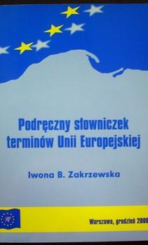 Podręczny słowniczek terminów Unii Europejskiej