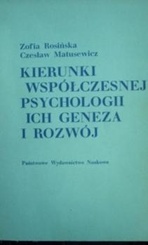 Kierunki współczesnej psychologii i ich geneza