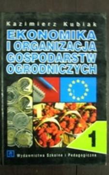Ekonomika i organizacja gospodarstw ogrodniczych 1