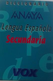 Diccionario Lengua Espanola Secundaria