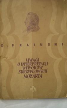 Uwagi o interpretacji utworów skrzypcowych Mozarta /192/