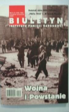 Biuletyn IPN nr 8-9/2009 Wojna i Powstanie