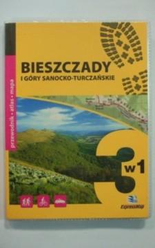 Bieszczdy i góry sanocko-turczańka 3w1 przewodnik atlas mapa