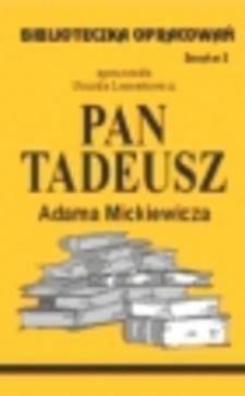 Biblioteczka opracowań 2 Pan Tadeusz