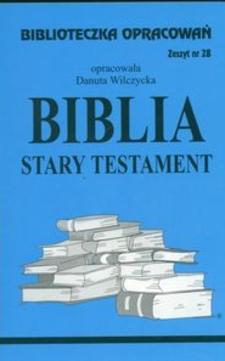 Biblioteczka opracowań 28 Biblia Stary Testament