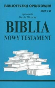 Biblioteczka opracowań 29 Biblia Nowy Testament