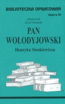 Biblioteczka opracowań 30 Pan Wołodyjowski