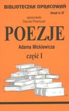 Biblioteczka opracowań 37 Poezje część I