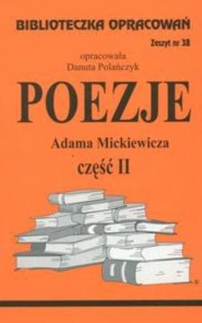 Biblioteczka opracowań 38 Poezje część II