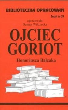 Biblioteczka opracowań 39 Ojciec Goriot