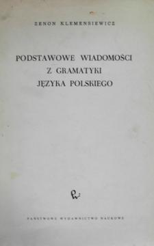 Podstawowe wiadomości z gramatyki języka polskiego