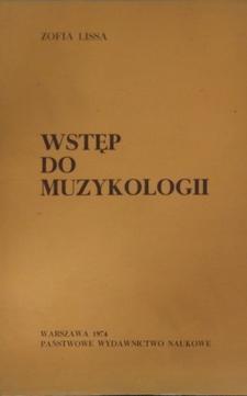 Wstęp do muzykologii /182/