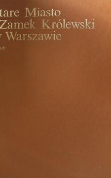 Stare Miasto i Zamek Królewski w Warszawie /754/