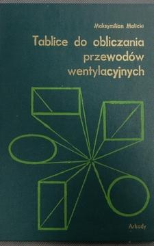 Tablice do obliczania przewodów wentylacyjnych /961/