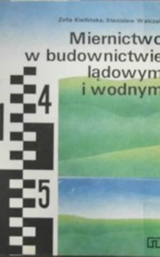 Miernictwo w budownictwie lądowym i wodnym /1272/