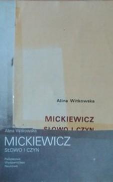 Mickiewicz Słowo i czyn /3924/