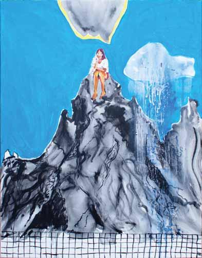 Pocztówka, 2015, akryl na płótnie, 50 x 40 cm / A Postcard, 2015, acrylic on canvas, 50 x 40 cm