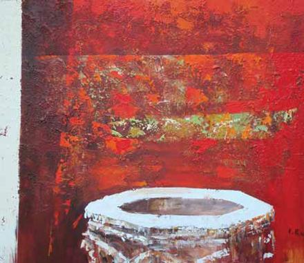 Studnia wenecka, 2008, akryl na płótnie, 80 x 100 cm / Venice Well, 2008, acrylic on canvas, 80 x 100 cm