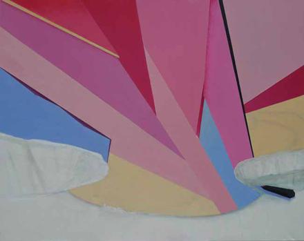 PEJZAŻ Z MARTWYM ROWERZYSTĄ, 2014, olej na płótnie, 140 x 185 cm / The Landscape with a Dead Cyclist, 2014, olej na płótnie, 140 x 185 cm