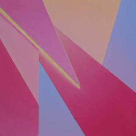 POŁAMANE ŚWIATŁO, 2015, olej na płótnie, 115 x 115 cm / The Broken Light, 2015, olej na płótnie, 115 x 115 cm